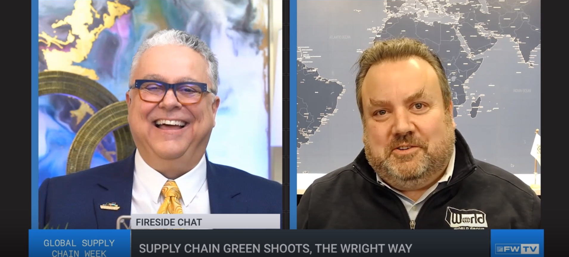 Steve Ferreira (left) and Duncan Wright (right) during Freight Waves Global Supply Chain Week