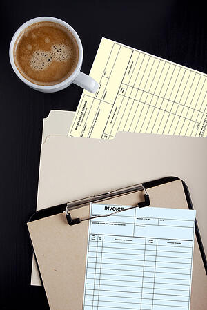 Forms of accounting documents - bill of lading and Invoice.