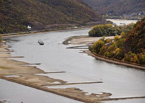 low water in germany rhine AP Photo Michael Probst